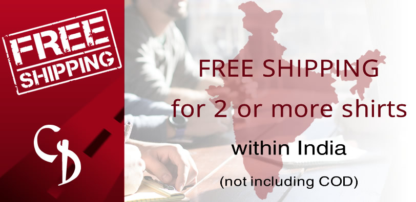 FREE SHIPPING for 2+ shirts in India (non COD)
