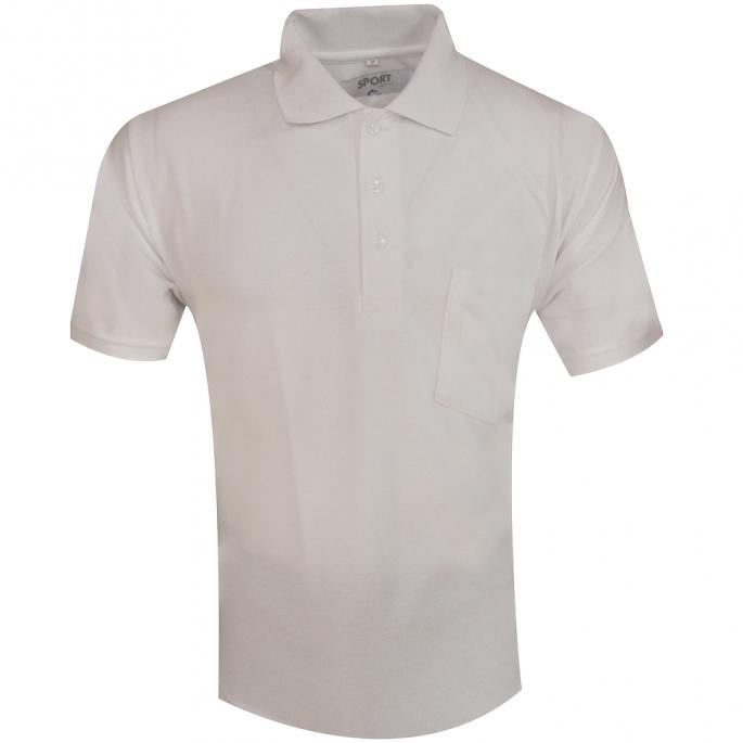 A PLAIN WHITE TSHIRT WITH COLLAR & POCKET , PAIR IT WITH DENIMS & SUEDE LOAFERS FOR A CASUAL LOOK WITH AN EDGE....