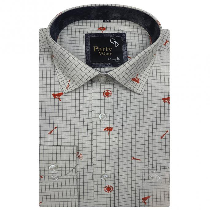 the Regular Fit check shirt with Print is perfect for casual spring and summer occasions.Give an authentic makeover to your everyday wardrobe.