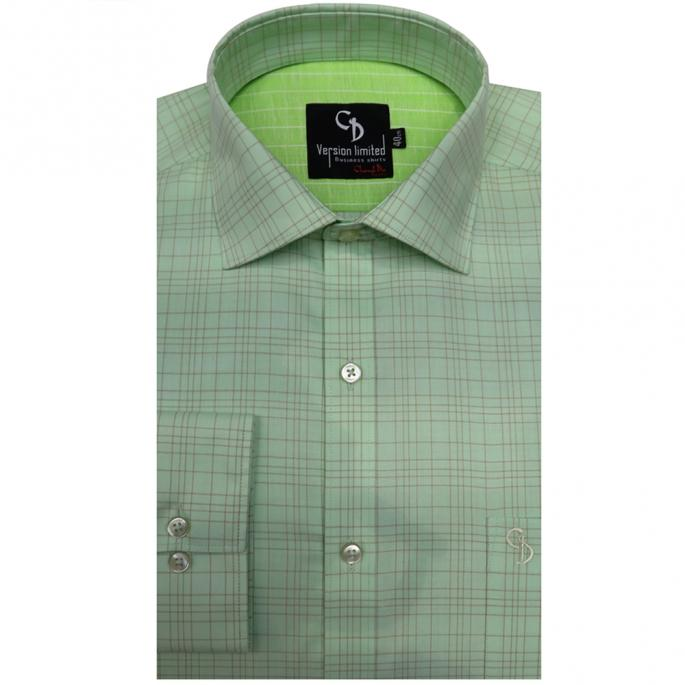 fine formal choice for summer,pista green check shirt will add colour to your working wardrobe,it features single cuffs and smart collar.