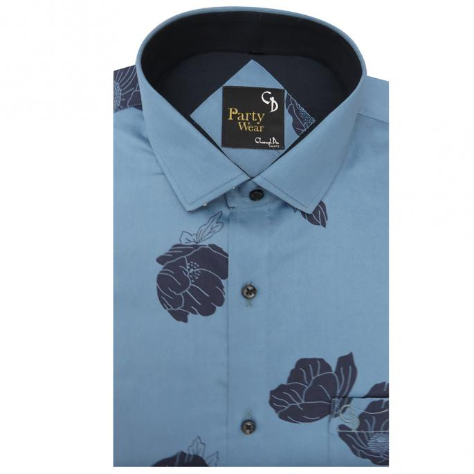 Impeccably crafted from blended fabric this modern style printed shirt is the perfect FLAUNTWEAR-suitable for evening dressing or festive occasion.