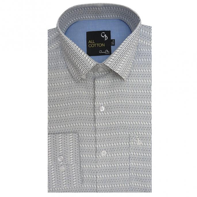 mady by finest quality cotton , comfort and style is the key of this shirt, featuring with smart collar, bright print  and patch pocket.