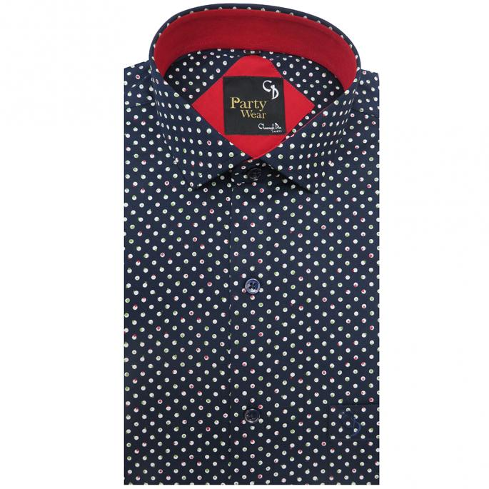 Revamp your party collection with this shirt featuring a print design,plain inside the placket,the shirt offers both style and comfort to its wearer.