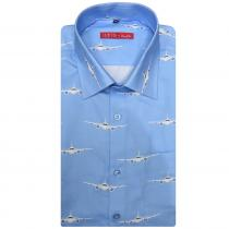 Print BLUE Shirt : Slim