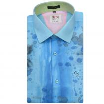HAND PAINTED BLUE Shirt : Ditto