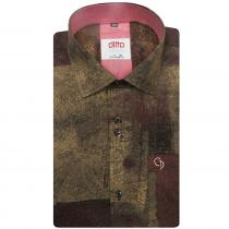 Print BROWN Shirt : Ditto