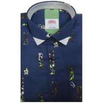Print NAVY BLUE Shirt : Ditto