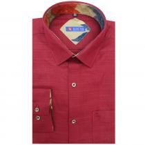 Self Design MAROON Shirt : Slim