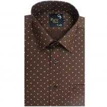 Print BROWN Shirt : Party