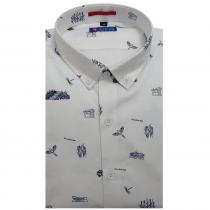 Print WHITE Shirt : Slim