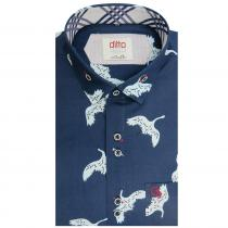 Print BLUE Shirt : Ditto