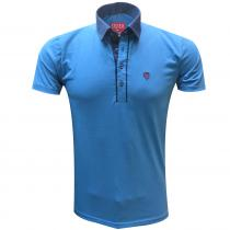 Combination TEAL BLUE T-Shirt : Itutu (Slim Fit)