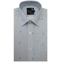 Print BLUE Shirt : Party