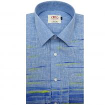 HAND PAINTS BLUE Shirt : Ditto