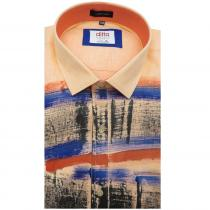 HAND PAINTED PEACH Shirt : Party