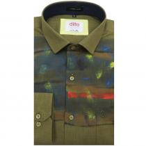 HAND PAINTED GREEN Shirt : Ditto