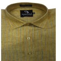 Stripe khakhi Shirt : Business