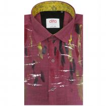 HAND PAINTED MAROON Shirt : Ditto