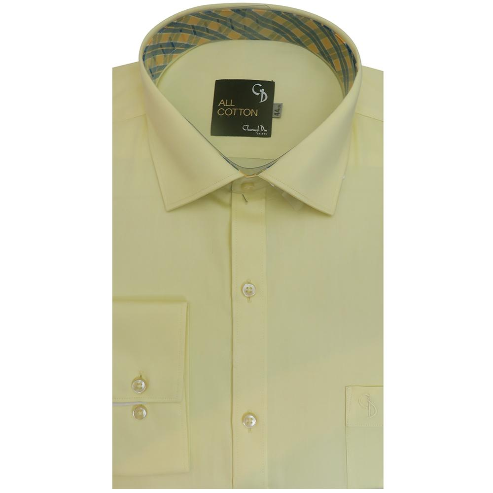 This lemon formal shirt will add a hint of colour to your working wardrobe.it comes with elegant matching inside collar,smart matching buttons.
