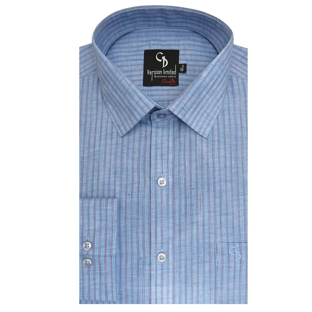 charming blue stripe shirt,smart collar and cuffs,whether you're on vacation or simply want to give your business style a relaxed,seasonal spin.