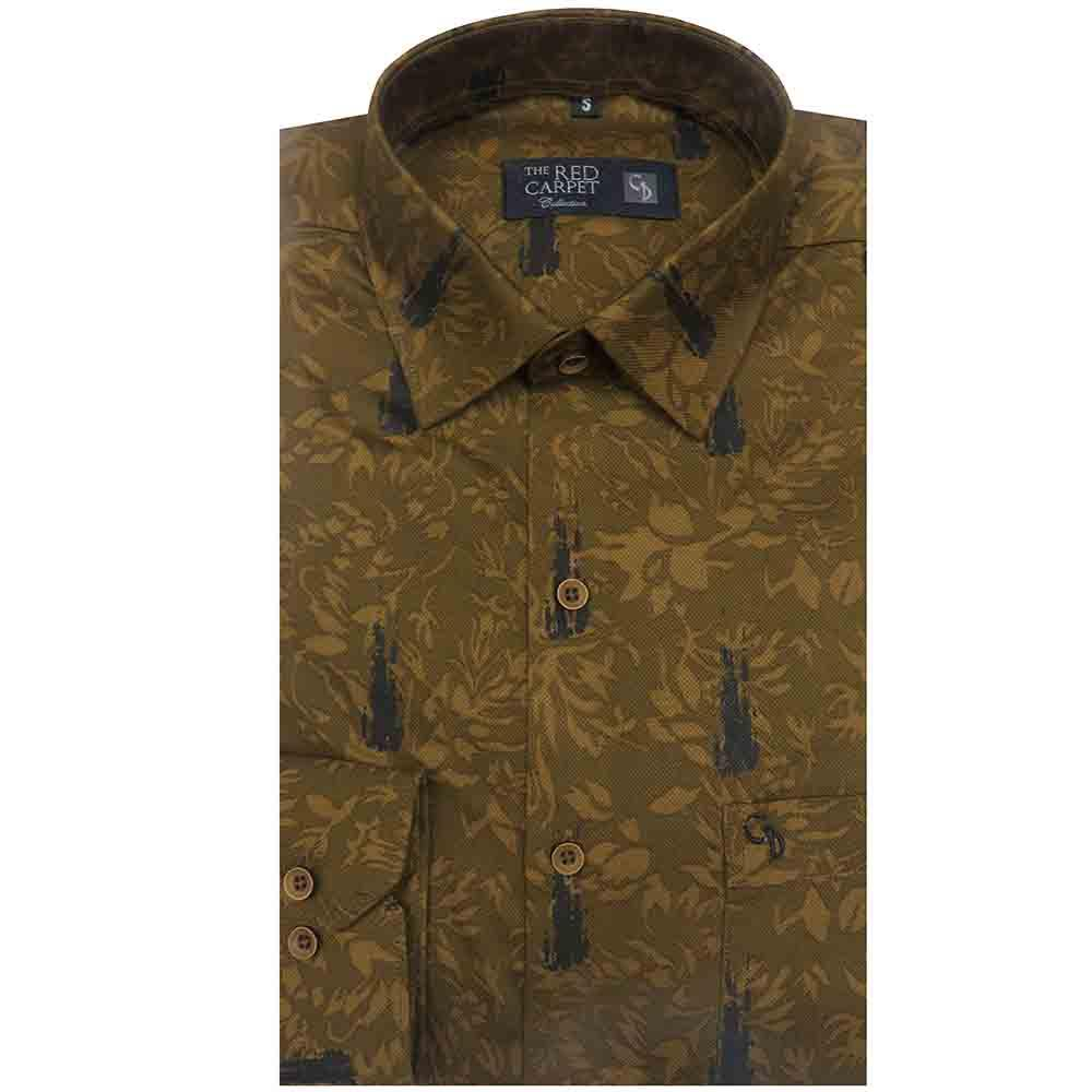 You will never find such collection from somewhere else its a brown combination shirt with a inner design ,match it with your black blue chinos