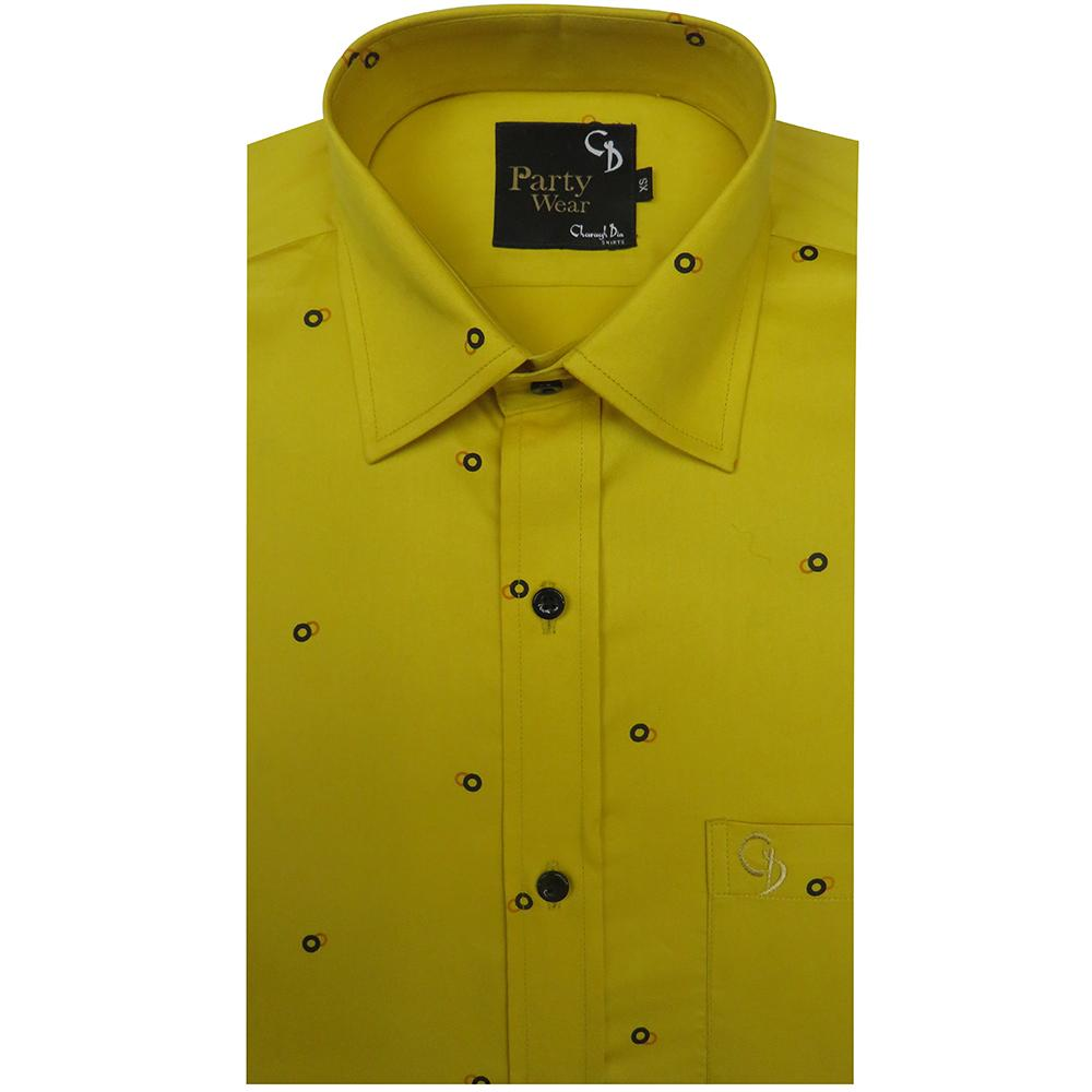 lemon shirt with brown print has a slubby texture and soft feel,this fabric makes for wardrobe essential,and can take you from day to night.